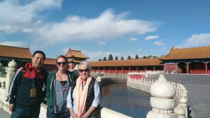 Our guide and clients at Forbidden City